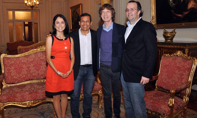 Mick Jagger y Ollanta Humala