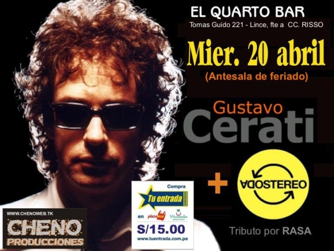 Tributo a Soda Stereo en Lima