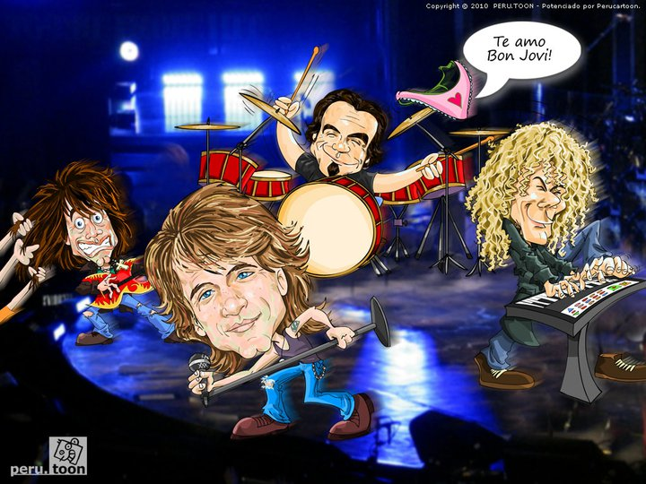 Bon Jovi en Lima - Cartoon