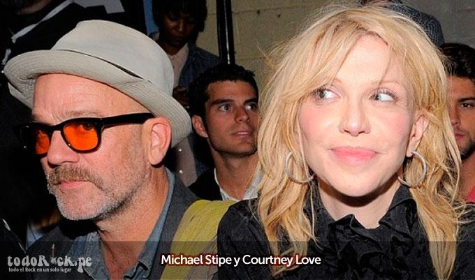 Michael Stipe y Courtney Love