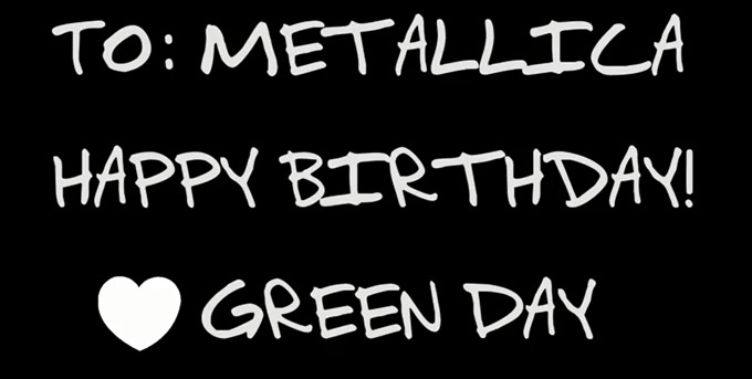 Green Day saluda a Metallica