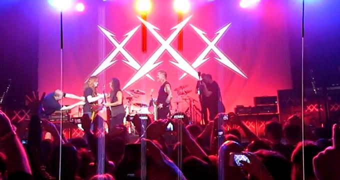 Dave Mustaine con Metallica 2011