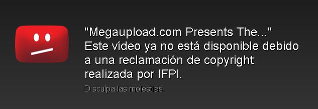 Megaupload Song - Censura YouTube