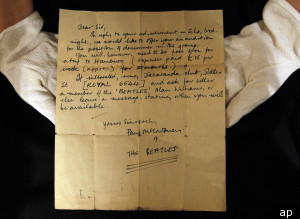 Carta de Paul McCartney 1960