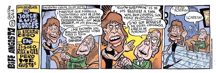 Mick Jagger - Jorge Luis Borges Comic