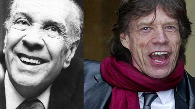 Jorge Luis Borges y Mick Jagger