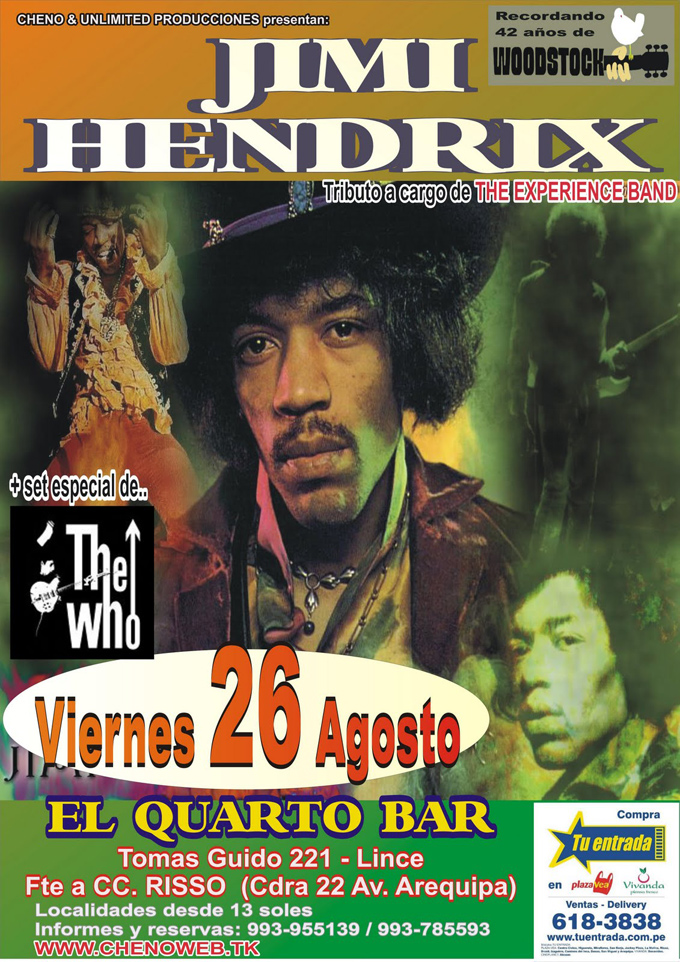 Tributo a Jimmy Hendrix y The Who en Lima