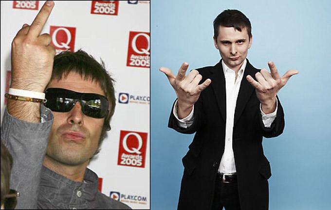 Liam Gallagher y Matt Bellamy