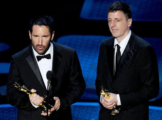 Trent Reznor y Atticus Ross (Oscars 2011)