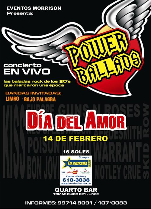 Power Ballads en Lima