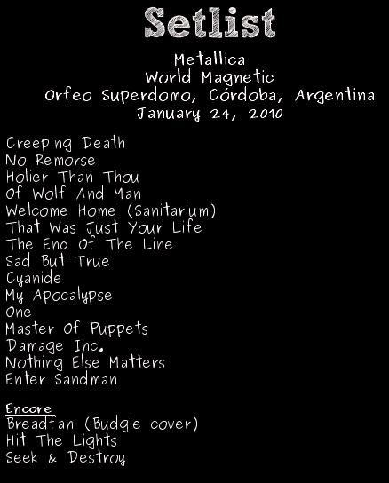 Metallica en Cordoba - 2010