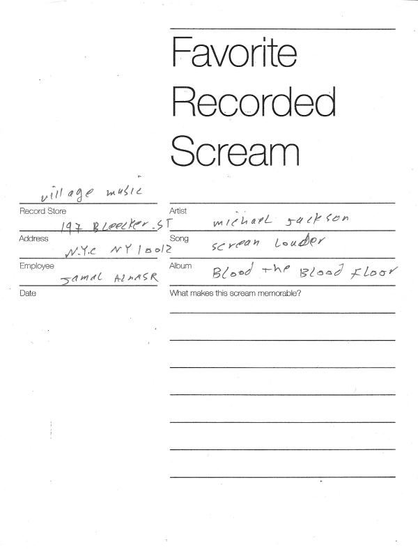 Esta cartilla entregaba Stevens a las tiendas de discos