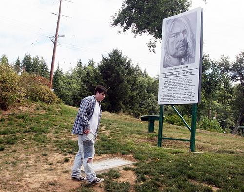 Kenneth Plandel de 16 años visitando el parque