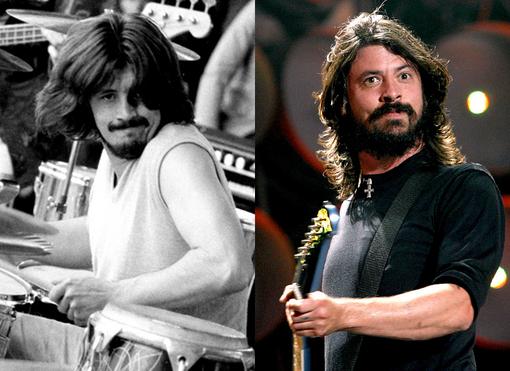 John Bonham de Led Zeppelin y Dave Grohl de Foo Fighters