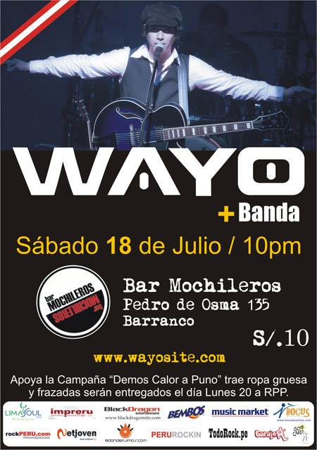 Wayo & Banda Mochileros 18 Julio