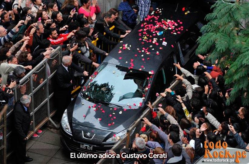 Último adios a Gustavo Cerati